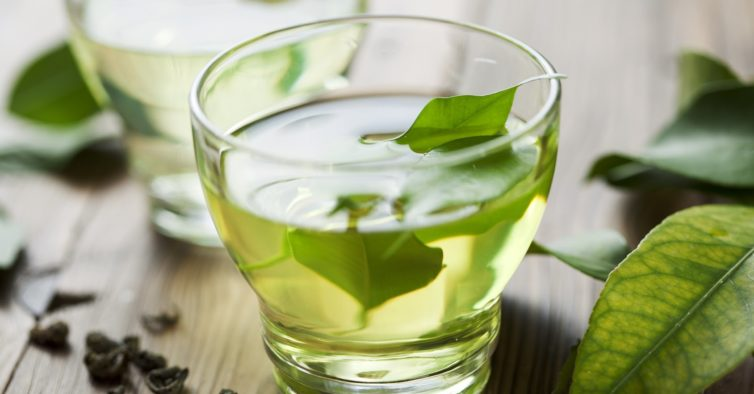 Manhã: chá verde