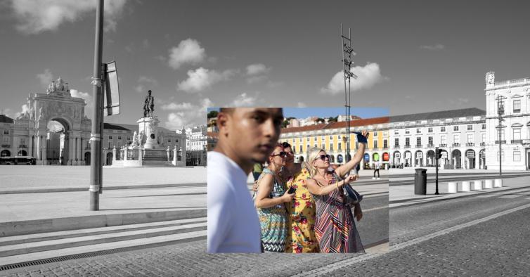 Exposição mostra o contraste entre Lisboa antes e depois da quarentena