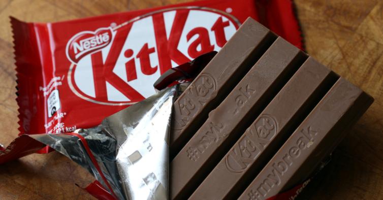 As barras de Kit Kat estão a ficar mais pequenas