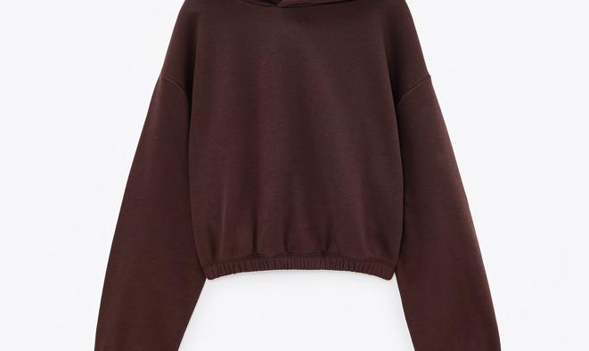 Sweatshirt curta com capuz, Zara (15,95€)