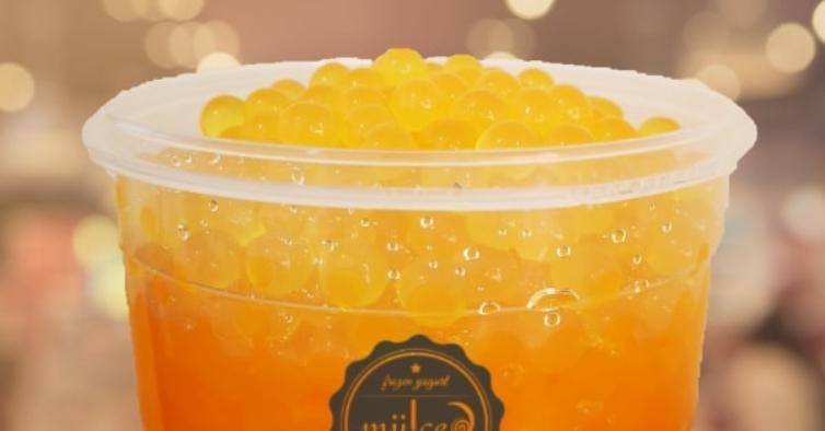 Já pode encomendar baldes com um quilo de esferas para fazer bubble tea em casa