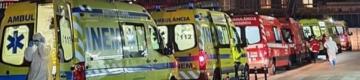 Covid-19: filas de ambulâncias com doentes no Hospital de Torres Vedras e Santa Maria