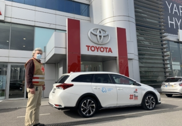 Caetano Auto cede viaturas Toyota aos profissionais de saúde que vacinam contra a Covid-19