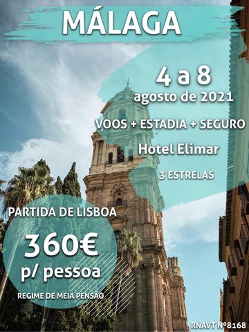 Esta escapadinha para Málaga só custa 360€ por pessoa (com voo e hotel)