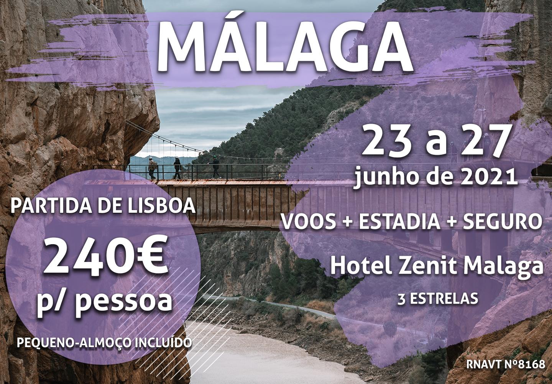 Esta maravilhosa escapadinha para Málaga em junho só custa 240€
