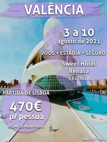 Prepare-se para 6 noites em Valência por apenas 470€ por pessoa (com voo e hotel)