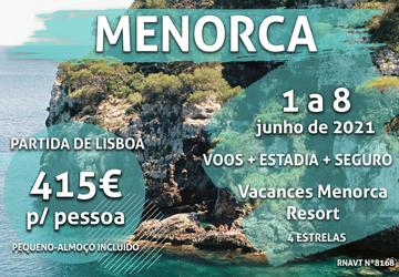 Não deixe escapar esta viagem para Menorca por 415€ num resort de quatro estrelas