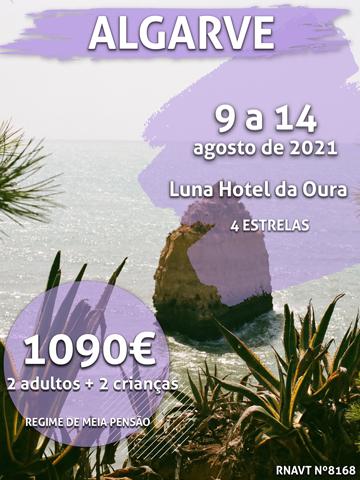 Temos mais uma semana imperdível no Algarve (custa 1090€ para 4 pessoas)