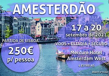Temos 4 noites em Amesterdão por apenas 250€ (com voo e hotel)