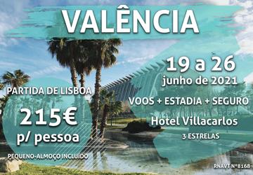 Esta escapadinha de 6 noites em Valência custa 215€ (com voo e hotel)