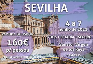 Uma escapadinha flash em Sevilha por 160€ (com voo, hotel e pequeno-almoço)