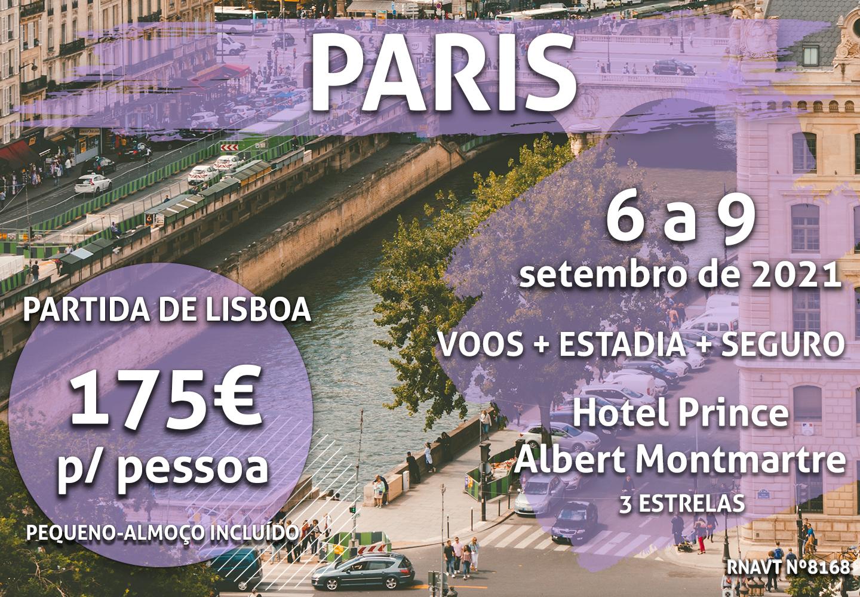 Esta escapadinha para duas pessoas em Paris custa 350€ (com voo, estadia e seguro)