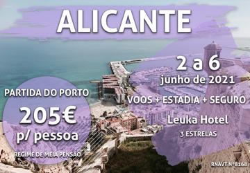 Esta viagem de Porto para Alicante só custa 205€ (com voo e hotel)