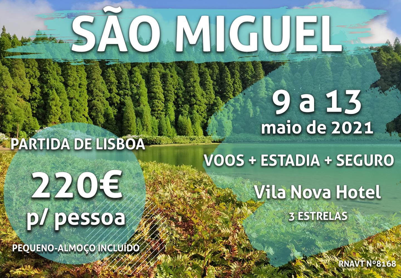 Lisboa-São Miguel por 220€ num hotel com vista para o mar e pequeno-almoço