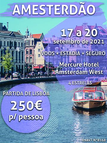 Temos 3 noites em Amesterdão por apenas 250€ (com voo e hotel)