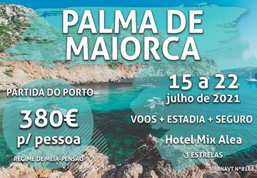 8 dias em Palma de Maiorca custam apenas 380€ (com hotel e meia-pensão)