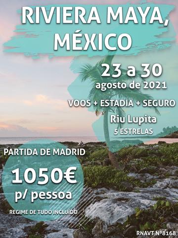 Esta escapadinha de 7 noites no México custa 1050€ por pessoa com tudo incluído