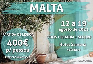 Marque já: uma semana em Malta por apenas 400€ por pessoa com meia-pensão