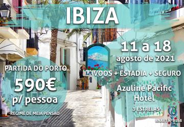 Temos mais um pacote incrível para Ibiza por 590€ por pessoa com meia-pensão