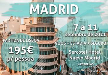 Imperdível: uma viagem para Madrid por 195€ por pessoa (com voo e hotel)