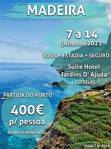 Aproveite: uma semana na Madeira por 400€ por pessoa num hotel de 4 estrelas
