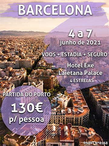 Não perca esta escapadinha em Barcelona por 130€ num hotel de 4 estrelas