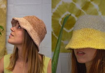 Os bucket hats mais cool são feitos à mão e tingidos com cebolas e abacates