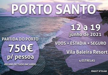 Esta viagem de sonho para Porto Santo com tudo incluído só custa 750€