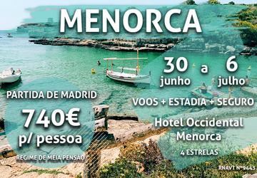 Última oportunidade: uma semana em Menorca por apenas 740€