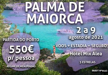 Inacreditável: esta viagem para Palma Maiorca custa mesmo 550€ (com voo e hotel)