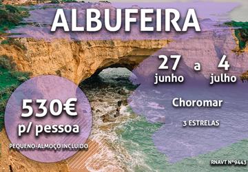 Temos mais uma semana imperdível no Algarve por apenas 530€