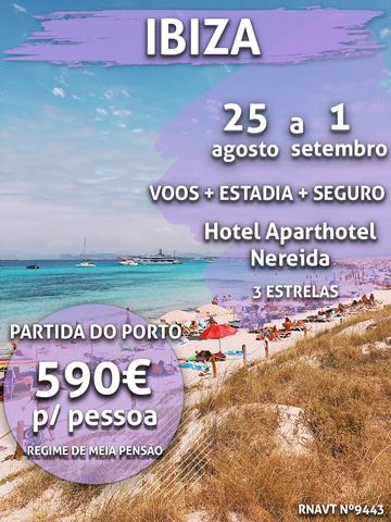 Atenção: esta maravilhosa escapadinha para Ibiza só custa 590€