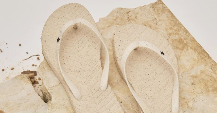 Os novos chinelos da Cubanas trocaram o plástico por fibra de coco 100% reutilizável