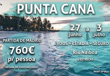 7 noites em Punta Cana por 760€ num hotel com tudo incluído