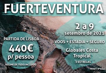 Temos uma viagem para Fuerteventura por 440€ num hotel tudo incluído