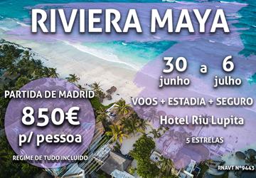 7 noites no México por 850€ num hotel com tudo incluído