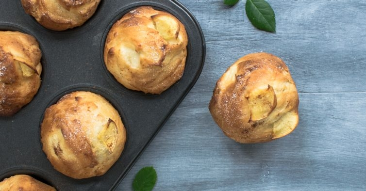 Muffins de maçã e canela