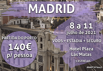 Não perca: uma escapadinha em Madrid por apenas 140€