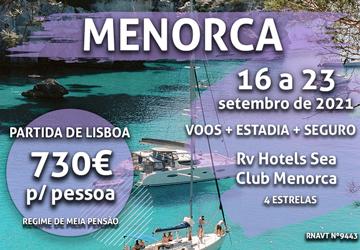 Inacreditável: esta viagem para Menorca custa mesmo 730€ (com voo e hotel)