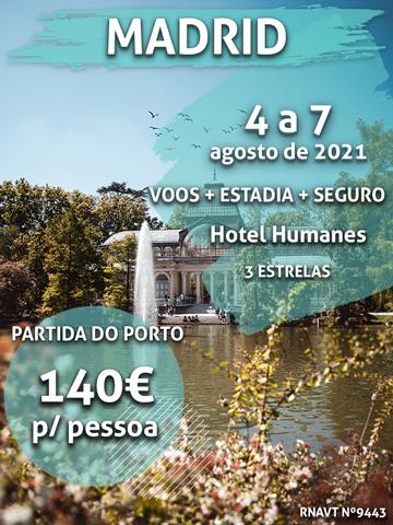 Alerta, Madrid: temos uma viagem por apenas 140€ (com voo e hotel)