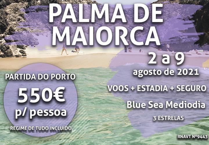 Temos mais um programa tudo incluído para Palma de Maiorca por 550€