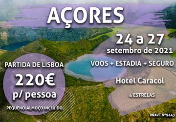 Escapadinha flash: 3 noites nos Açores por 220€ com voo e hotel