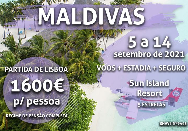 O sonho de uma vida: 7 noites nas Maldivas por 1600€ com pensão completa