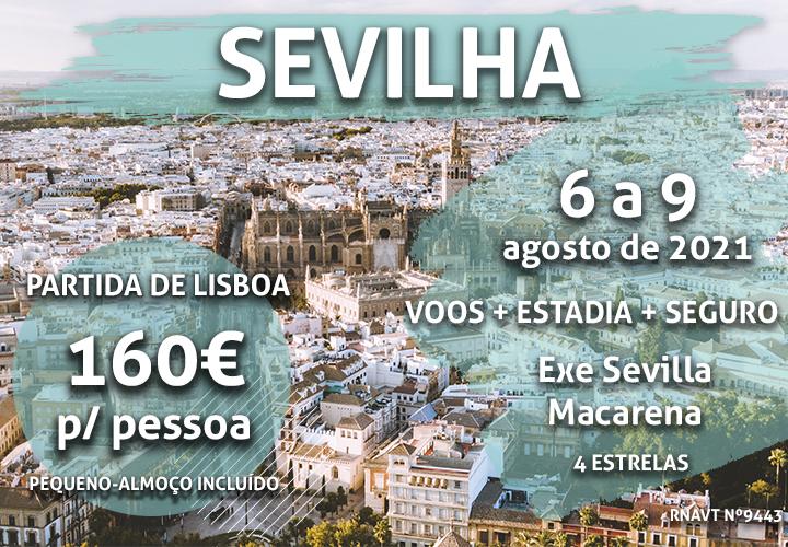 Não perca: um fim de semana em Sevilha por 160€
