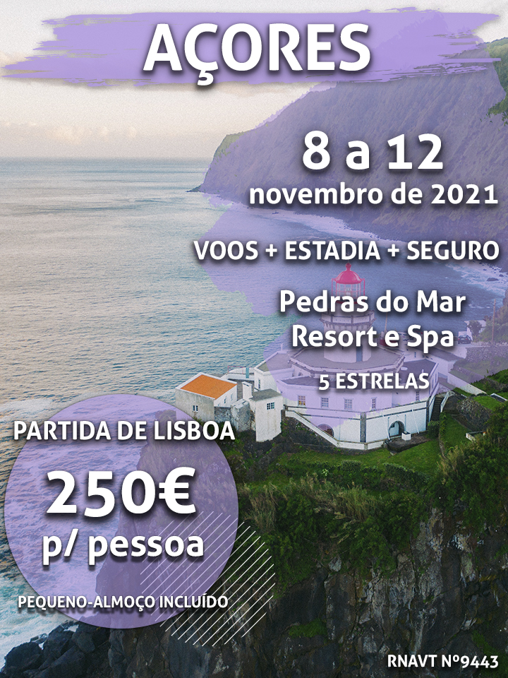 Temos mais uma viagem para os Açores por 250€ num hotel de 5 estrelas