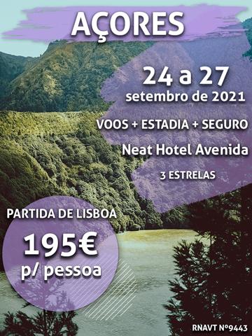 Temos um fim de semana nos Açores por apenas 195€ por pessoa