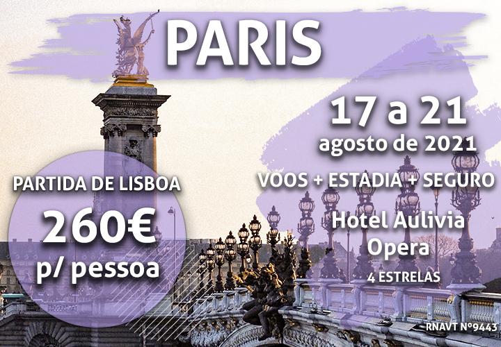 Última hora: 4 noites em Paris por 260€ com voo e hotel