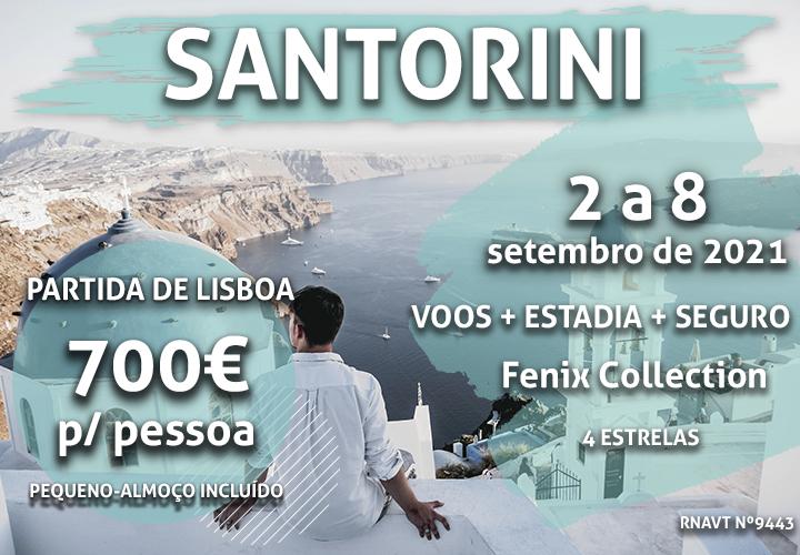 Temos mais uma viagem incrível para Santorini por 700€ (com voo e hotel)