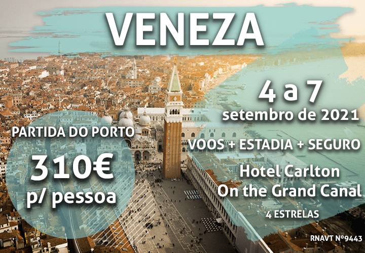 Porto-Veneza por apenas 310€ num hotel com vista para o Grande Canal