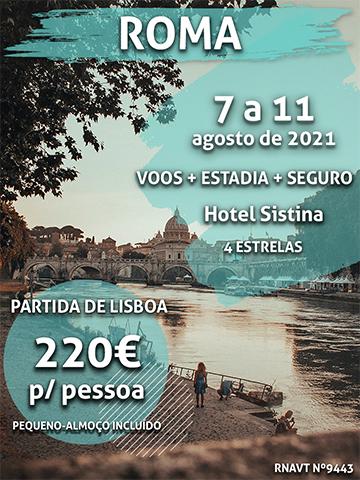 Escapadinha flash: Lisboa-Roma por apenas 220€ (com hotel e pequeno-almoço)